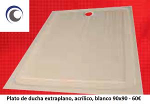 Plato ducha acrilico 90x90
